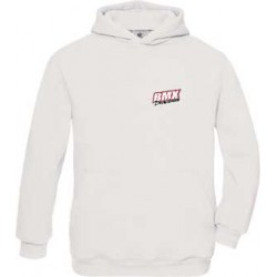 BMX Sweat Capuche Enfant Blanc