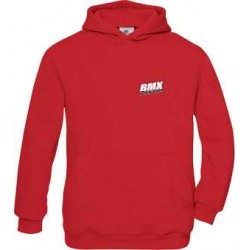 BMX Sweat Capuche Enfant Rouge