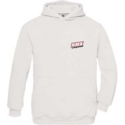 BMX Sweat Capuche Adulte Blanc