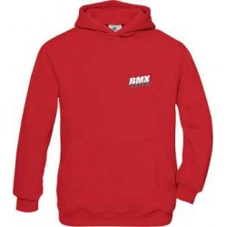 BMX Sweat Capuche Adulte Rouge