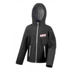BMX Veste Softshell Capuche Enfant Noire