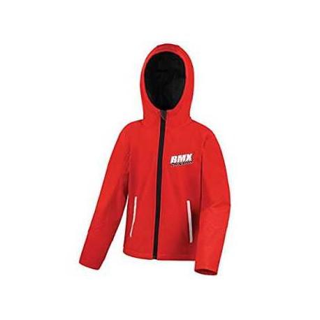BMX Veste Softshell Capuche Enfant Rouge