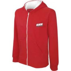 BMX Sweat-shirt zippé capuche enfant Rouge
