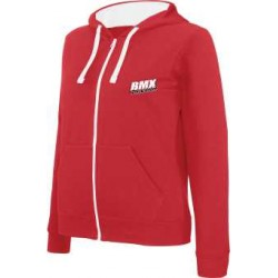 BMX Sweat-shirt zippé capuche homme Rouge