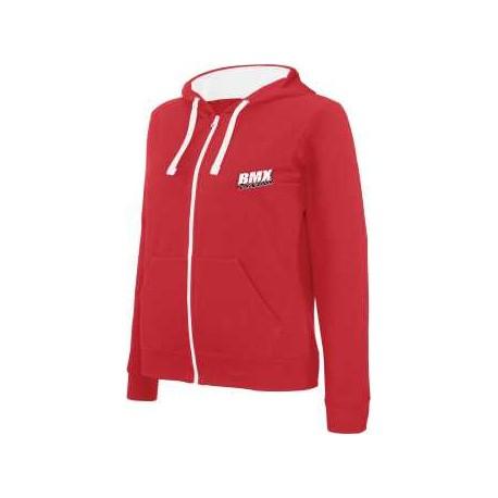 BMX Sweat-shirt zippé capuche homme Rouge