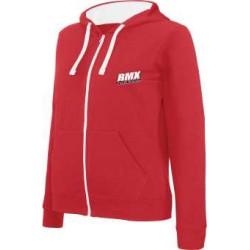 BMX Sweat-shirt zippé capuche femme Rouge