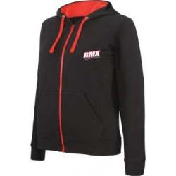 BMX Sweat-shirt zippé capuche femme Noire