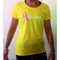 M LE SPORT Tee Shirt Femme Jaune