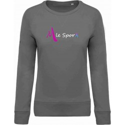 M LE SPORT Sweat Adulte Coton BIO Noir