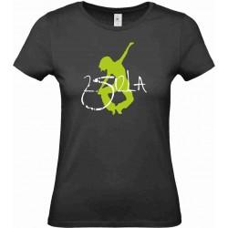2 SI 2 LA - Tee-Shirt Femme Noir Logo
