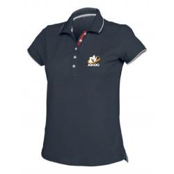 AIKIDO TISSIER VAR - Polos FEMME Marine - Broderie Devant