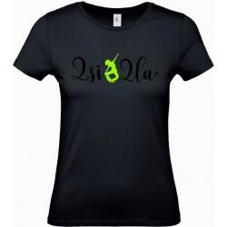 Tee Shirt Femme Notes Noir