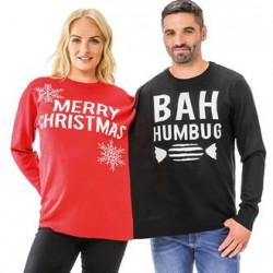 PULL SIAMOIS ADULTE MERRY CHRISTMAS / BAH HUMBUG