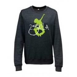 2 SI 2 LA - Sweat Heather Girlie - Black Heather - Logo