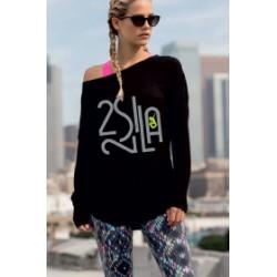2 SI 2 LA - Tee-Shirt Femme Slounge Logo Billionaire Gris Vert