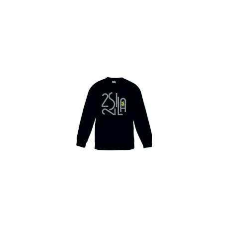 2 SI 2 LA - Sweat Col Rond Enfant Noir Logo Billionaire Gris Vert