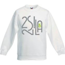 2 SI 2 LA - Sweat Col Rond Enfant Blanc Logo Billionaire Gris Vert