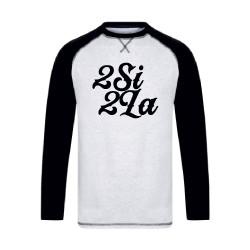 2 SI 2 LA - Baseball Tee Unisex Gris et Noir Logo Noir