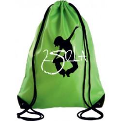 2 SI 2 LA - Sac Cordelette Vert Logo Classique Blanc et Noir