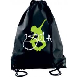2 SI 2 LA - Sac Cordelette Noir Logo Classique Blanc et Vert