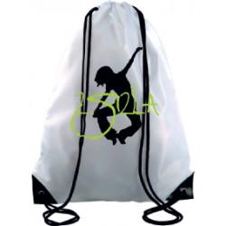 2 SI 2 LA - Sac Cordelette Blanc Logo Classique Vert et Noir