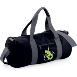 2 SI 2 LA - Sac Baril Noir et Gris Logo Classique Blanc et Vert