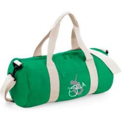 2 SI 2 LA - Sac Baril Vert et Blanc Logo Classique Blanc et Gris